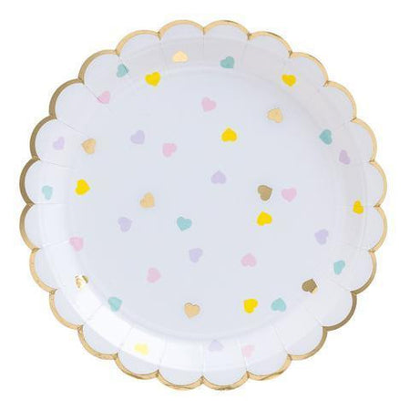 Hearts Party Plates