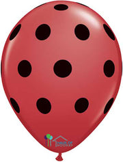 "11"" Red Black Polka"