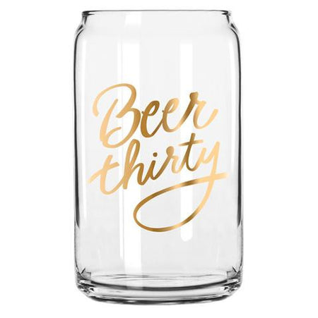 BEER THIRTY CAN GLASS