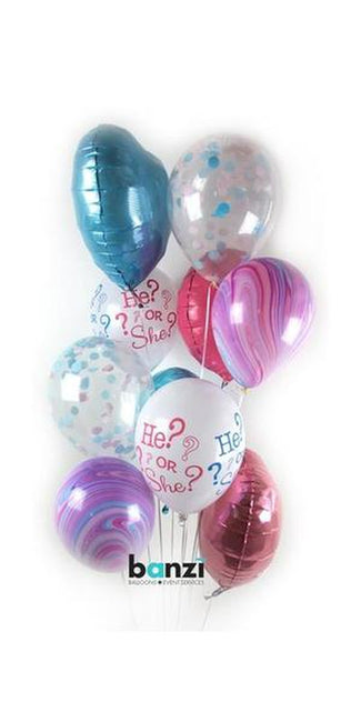 Gender Reveal Confetti Balloon Bouquet