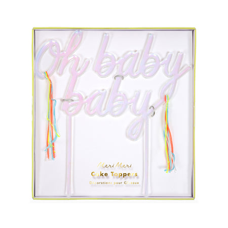 Oh Baby Baby Iridescent Cake Topper