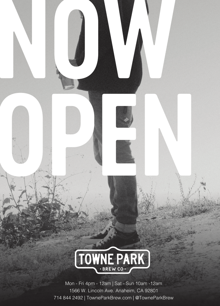 Towne Park Brewery & Taproom <br>Now Open Daily