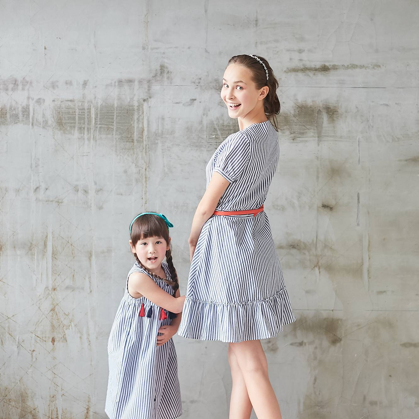 (Mommy & Me) Blue & White Stripe Dress (Set of 2) - Bunny n Bloom Mommy & Me Dress