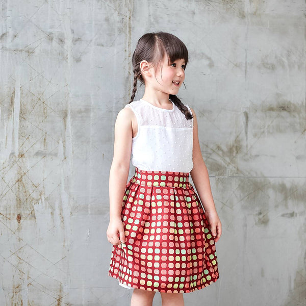 Candy Canes skirt (infant/toddler/girl) - Bunny n Bloom Mommy & Me Dress