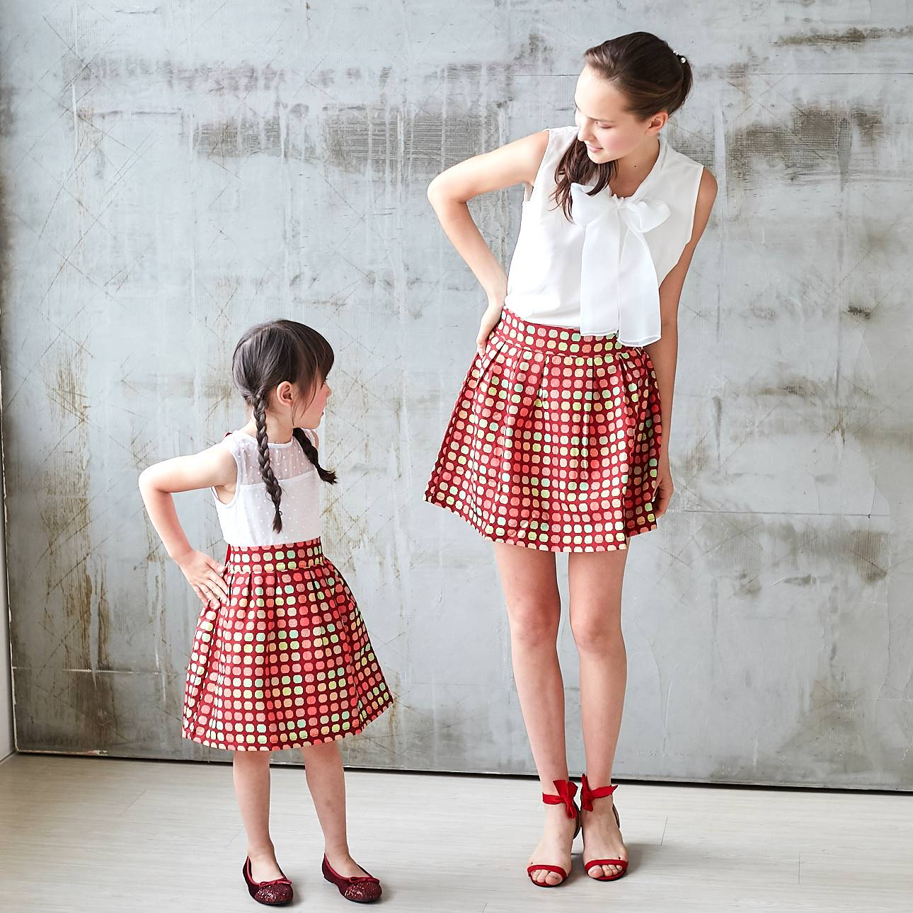 (Mommy & Me) Candy Canes skirt (set of 2) - Bunny n Bloom Mommy & Me Dress