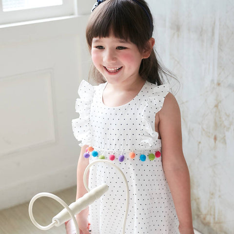 (Girl ) White Star Polka Dot Printed Shift Dress - Bunny n Bloom Mommy & Me Dress