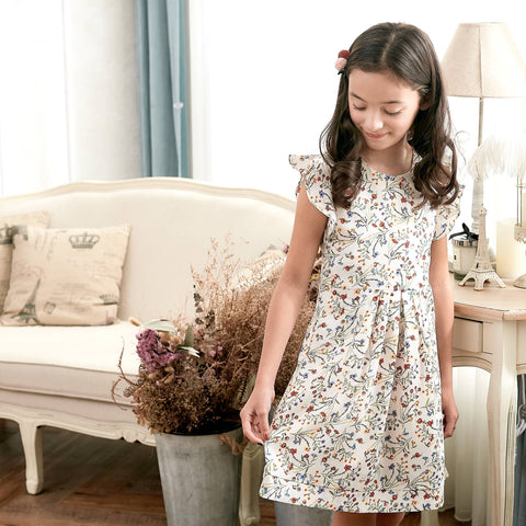 Ruffle Sleeve Floral Dress (toddler/girl) - Bunny n Bloom Mommy & Me Dress