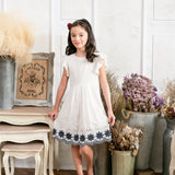 Floral Embroidered Fit & Flare Dress (toddler/girl) - Bunny n Bloom Mommy & Me Dress