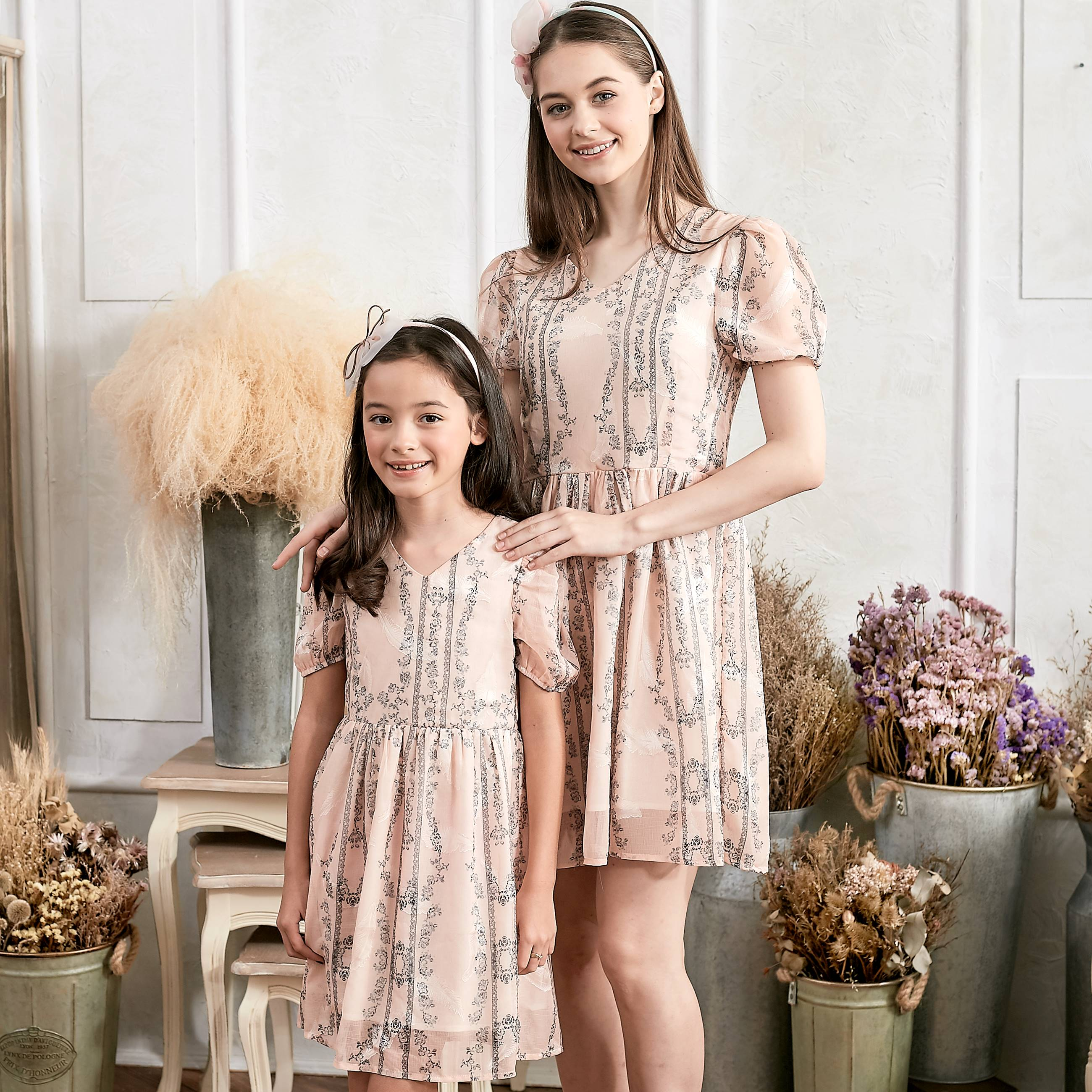 (Mommy & Me) Floral Fit & Flare Dress (set of 2) - Bunny n Bloom Mommy & Me Dress