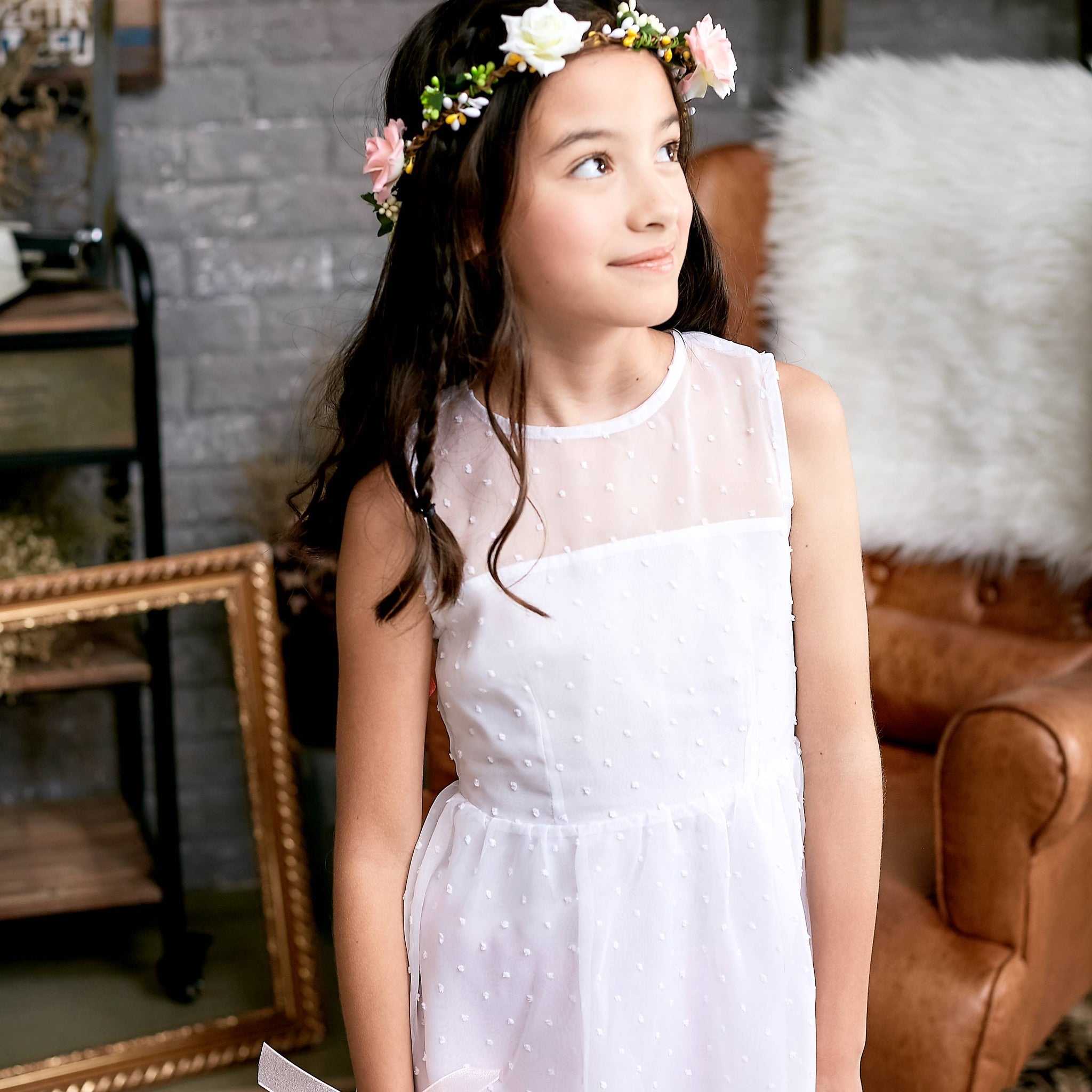 Ethereal Dotted Mesh Dress (toddler/girl) - Bunny n Bloom Mommy & Me Dress