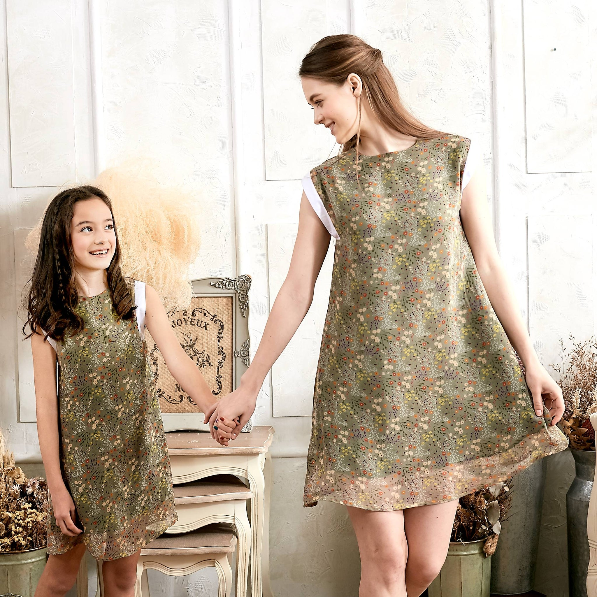 (Mommy & Me) Floral swing dress (set of 2) - Bunny n Bloom Mommy & Me Dress