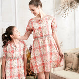 Edelweiss Plaid Dress (toddler/girl) - Bunny n Bloom Mommy & Me Dress