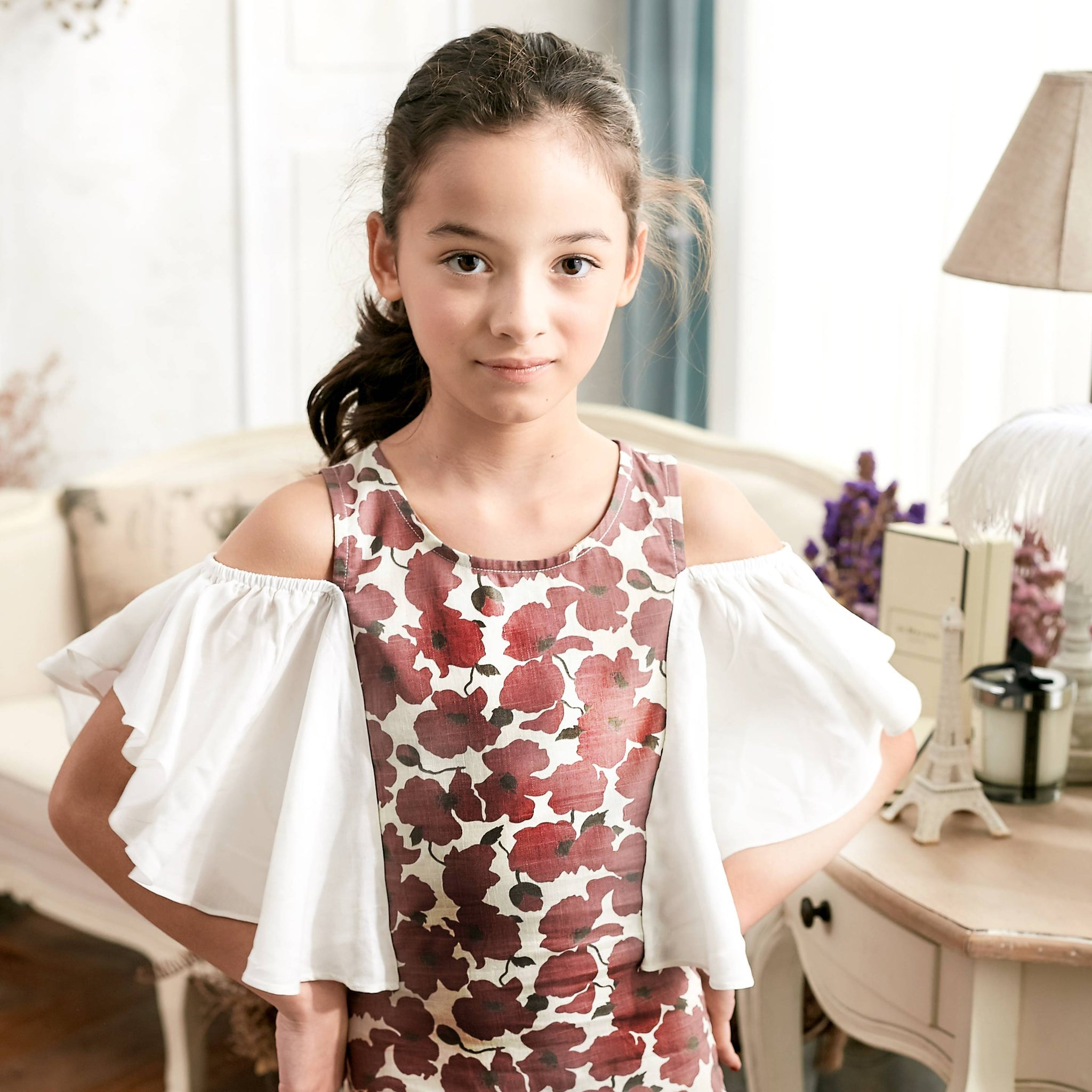 Cold Shoulder Floral Dress (toddler/girl) - Bunny n Bloom Mommy & Me Dress