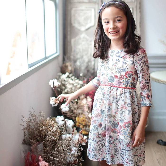 Floral Tunic Dress (white) - Bunny n Bloom Mommy & Me Dress