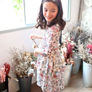 Floral Tunic Dress (white)  Pre-Order, ship by 5/20