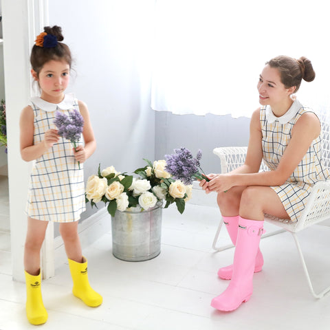 (Mommy & Me) Windowpane A-Line Dress (set of 2) - Bunny n Bloom Mommy & Me Dress
