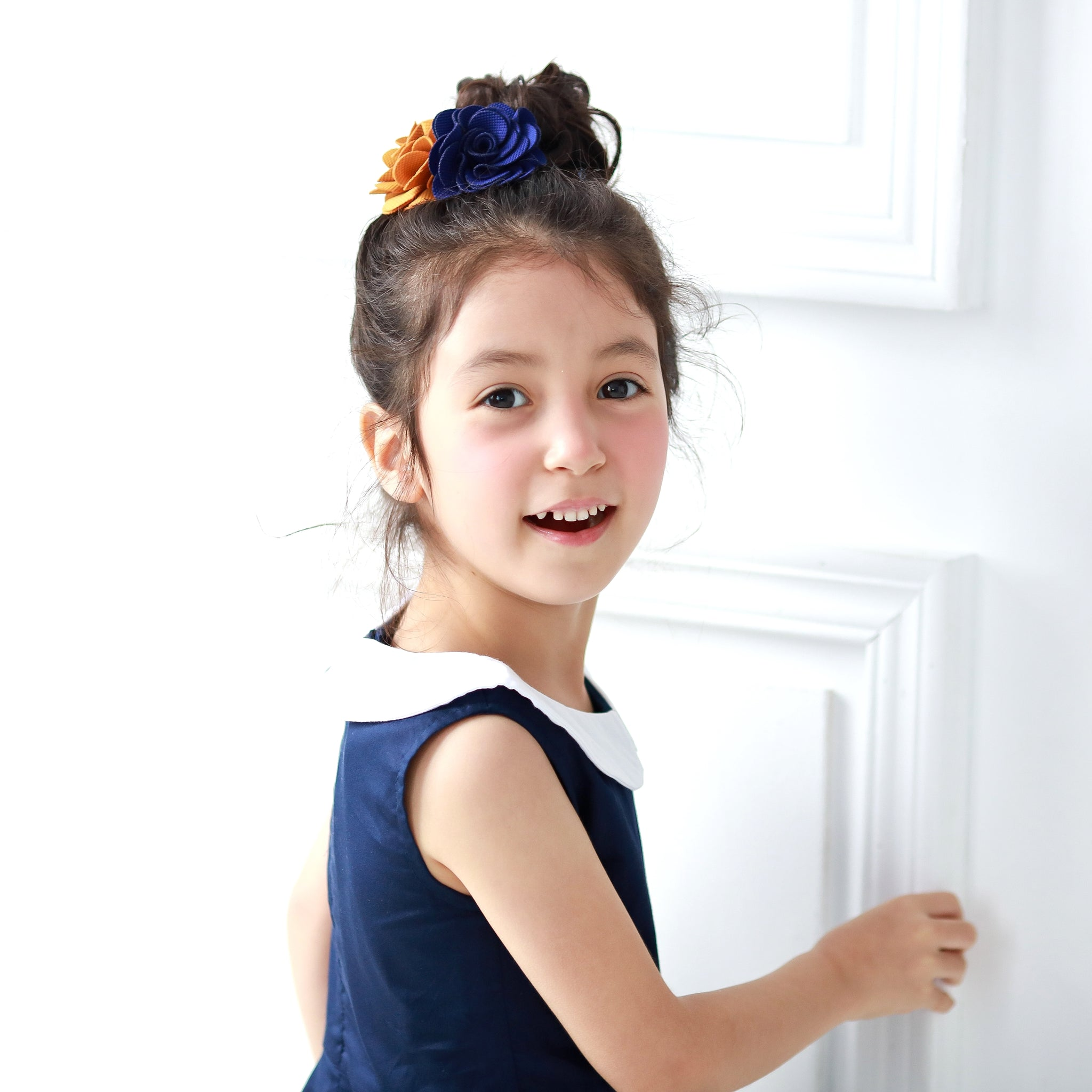 Cotton Dancing Bunny dress (blue) - Bunny n Bloom Mommy & Me Dress