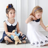 Cotton Dancing Bunny dress (white) - Bunny n Bloom Mommy & Me Dress