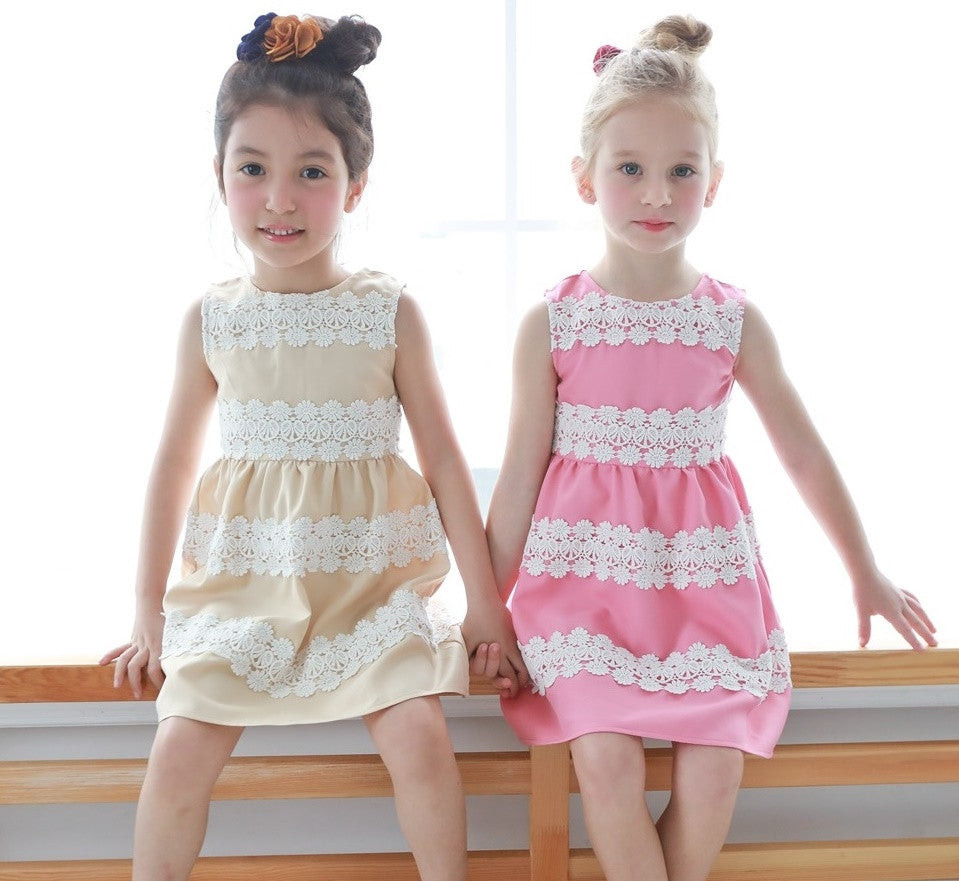(Mommy & Me) Elegant embroidered dress (set of 2) - Bunny n Bloom Mommy & Me Dress