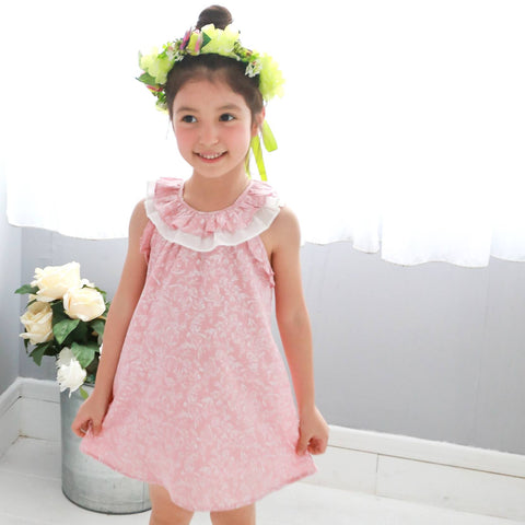 Fairytale printed floral oversize dress  (pink) - Bunny n Bloom Mommy & Me Dress