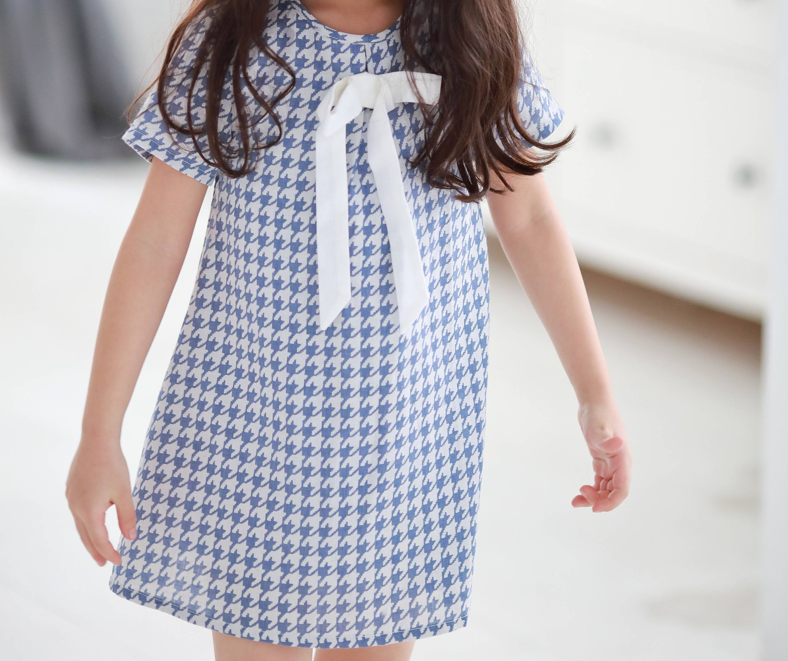 Houndstooth with cute bow dress - Bunny n Bloom Mommy & Me Dress
