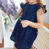 Cotton floral embroidered dress - Bunny n Bloom Mommy & Me Dress