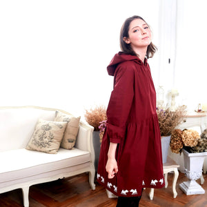 Deer Hooded Fit & Flare Dress (red) - Bunny n Bloom Mommy & Me Dress