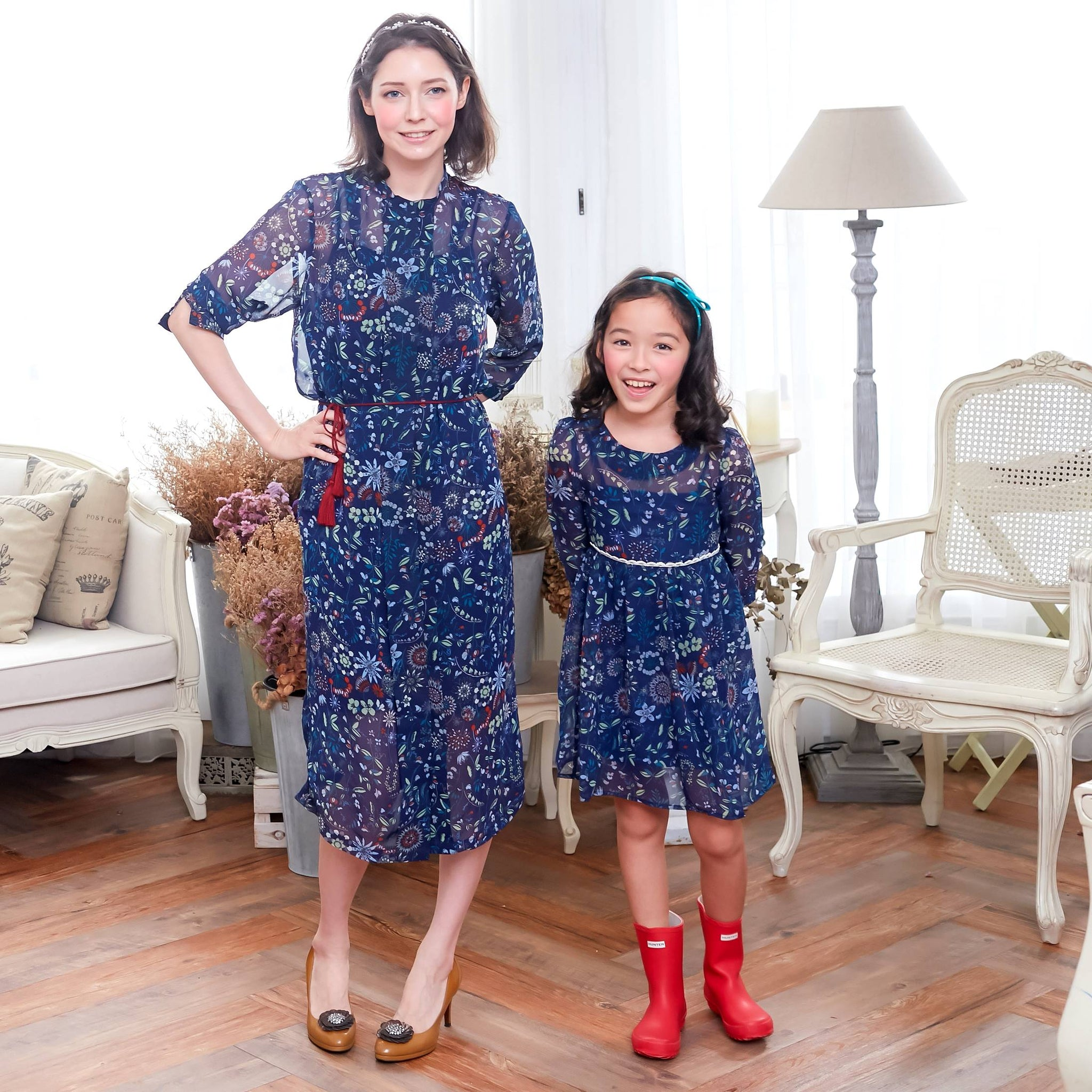 (Mommy & Me) Floral Tunic Dress (set of 2) - Bunny n Bloom Mommy & Me Dress