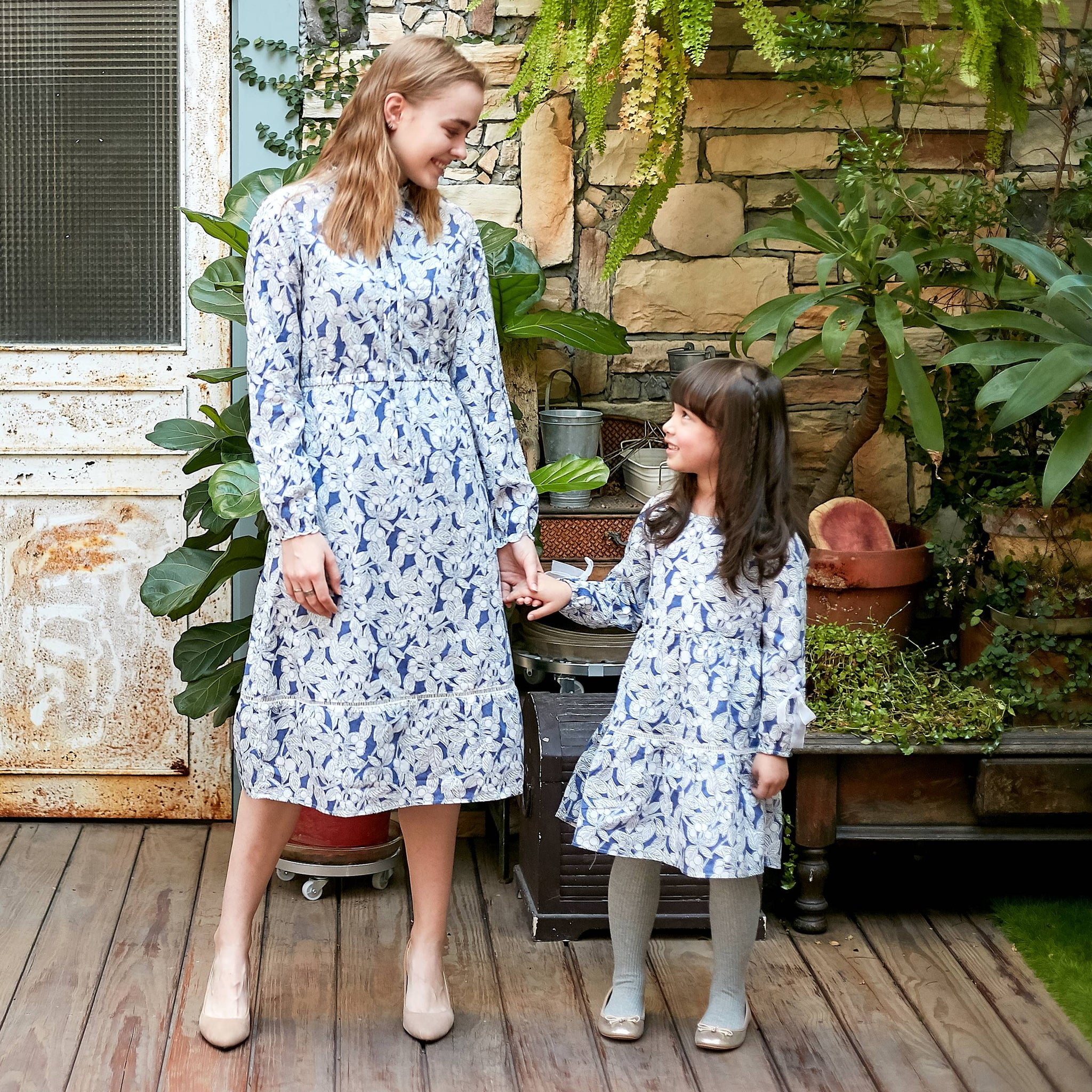 (Mommy & Me) Watercolor floral dress