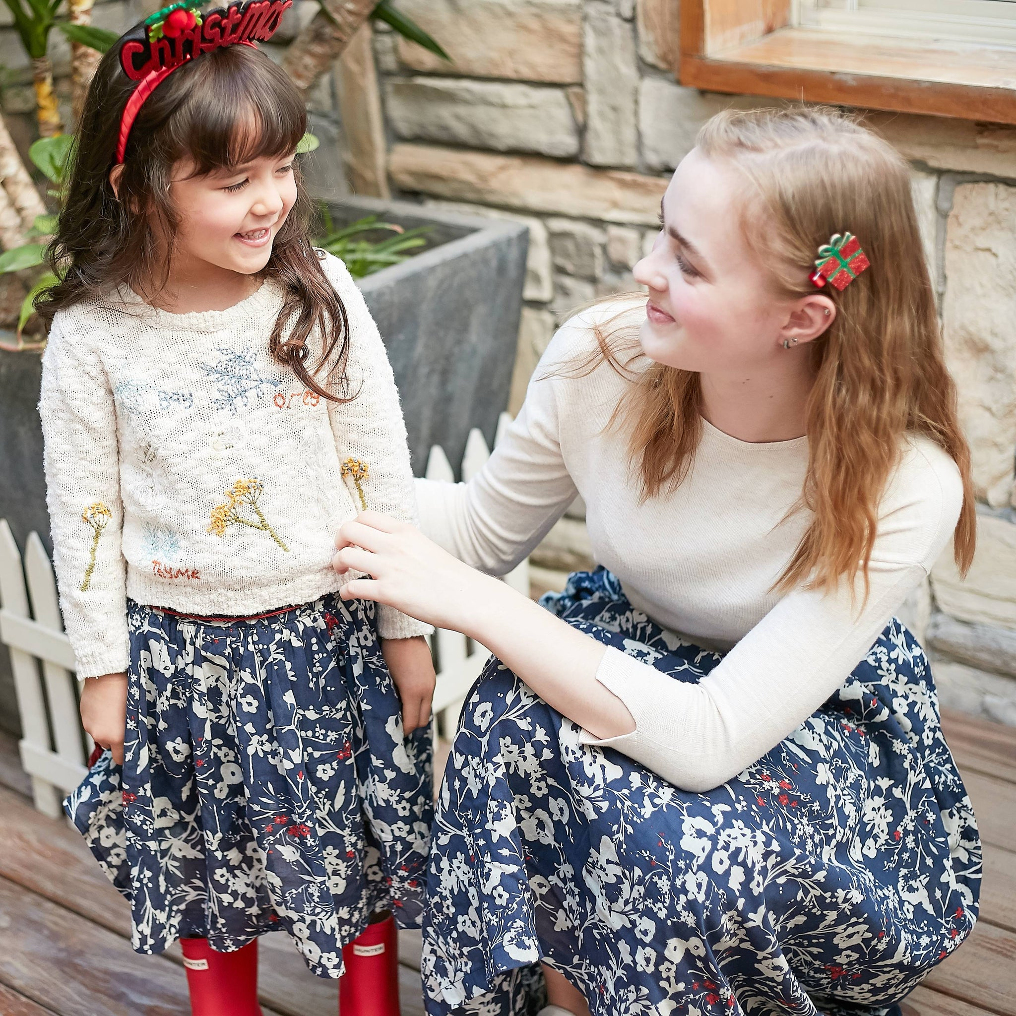 (Mommy & Me) Floral print skirt