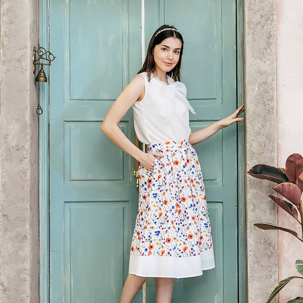 Woman skirt-floral dress