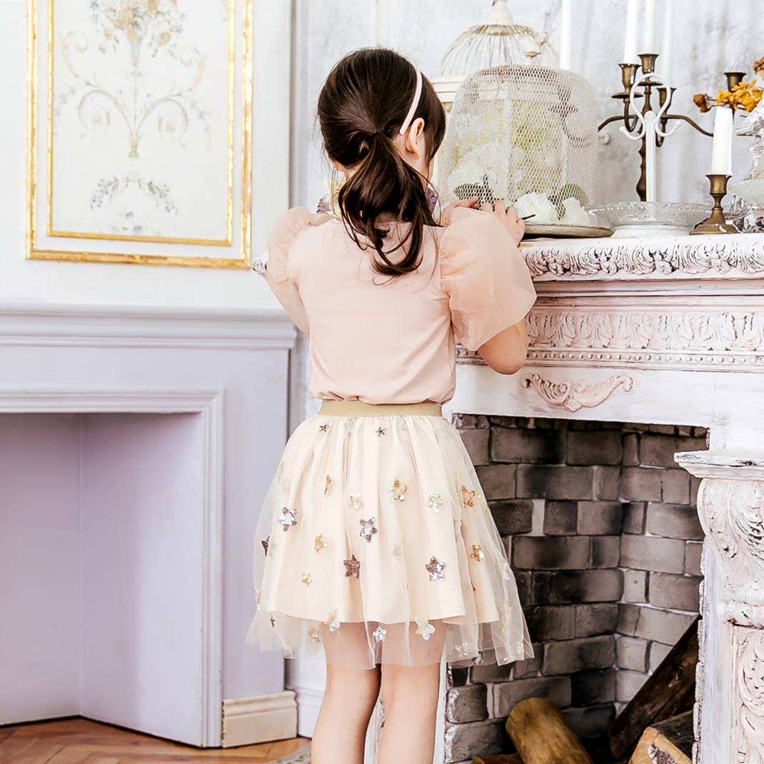 Girl skirt-Elegant embroidered skirt