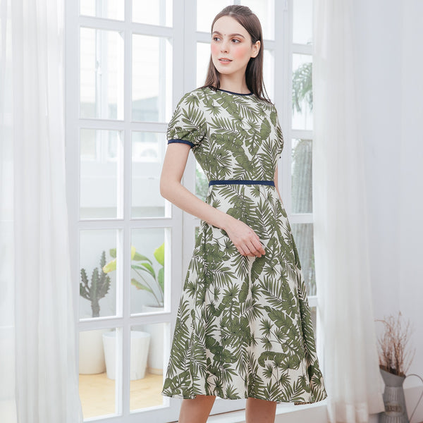 Forest Vintage Cotton Woman Dress (Pre-order, ship by 3/29)