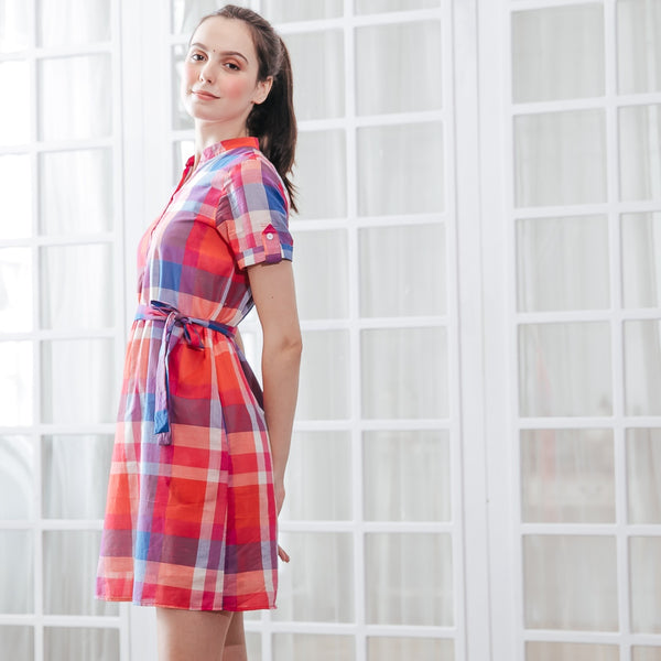 Plaid Party Woman Dress (Pre-order, ship by 3/29)