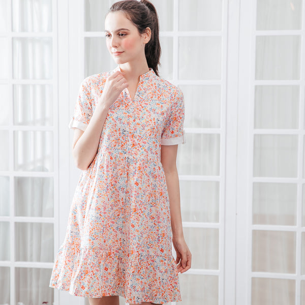 Sweet Vanilla Cotton A-line Woman Dress (Pre-order, ship by 3/29)