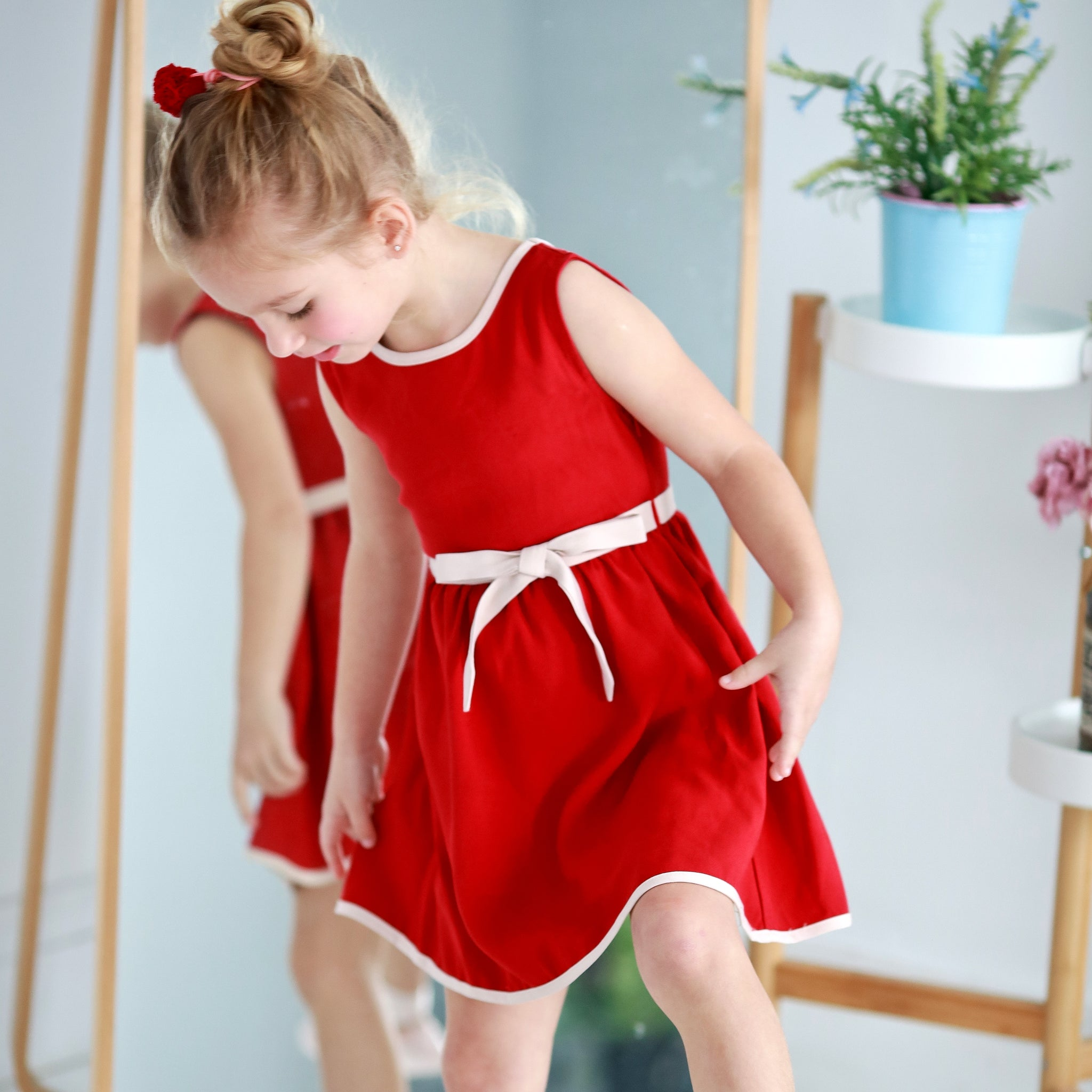 Butterfly Swing Dress (red) - Bunny n Bloom Mommy & Me Dress