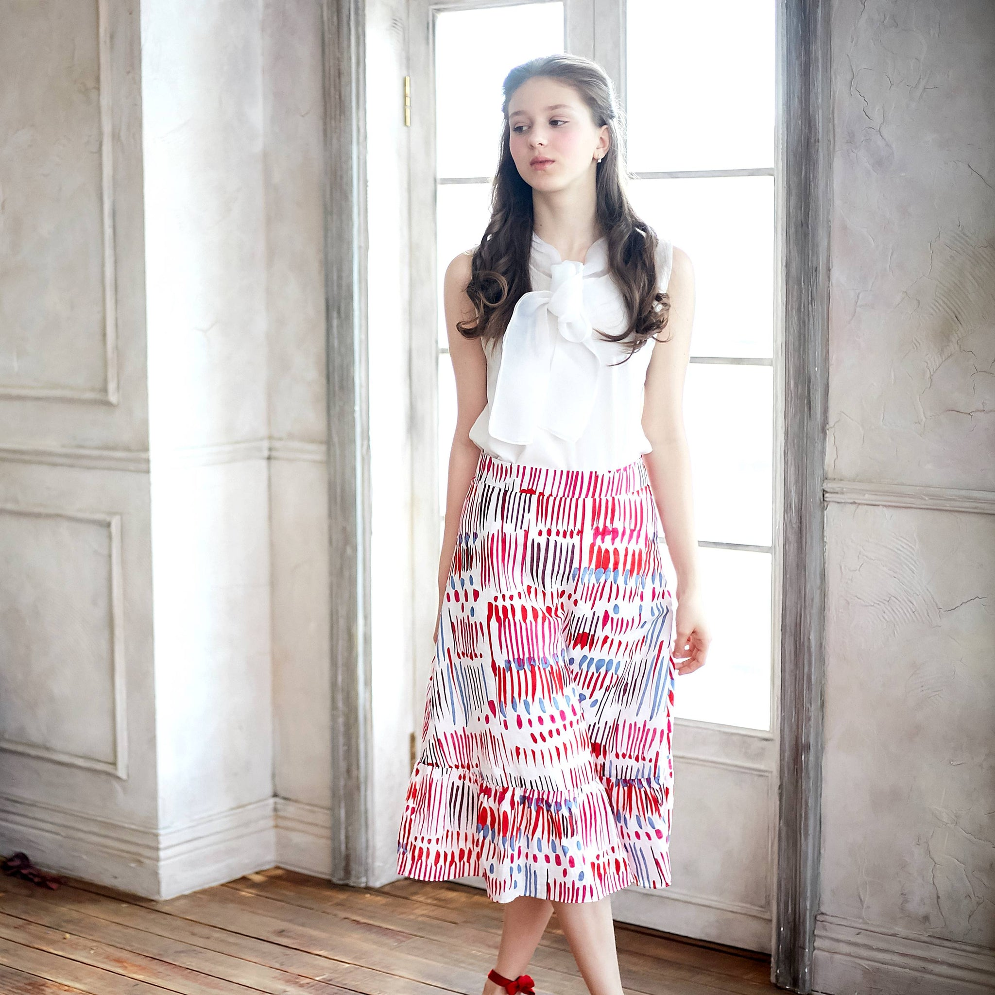 (Woman) Carnival Colorful Printed Midi Skirt - Bunny n Bloom Mommy & Me Dress