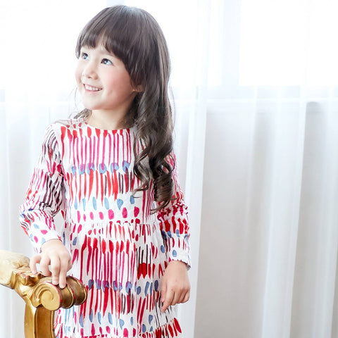 (Girl) Carnival Colorful Printed Shift Dress - Bunny n Bloom Mommy & Me Dress