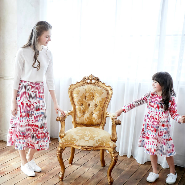 (Mommy & me) Carnival Colorful Printed Skirt/Dress - Bunny n Bloom Mommy & Me Dress