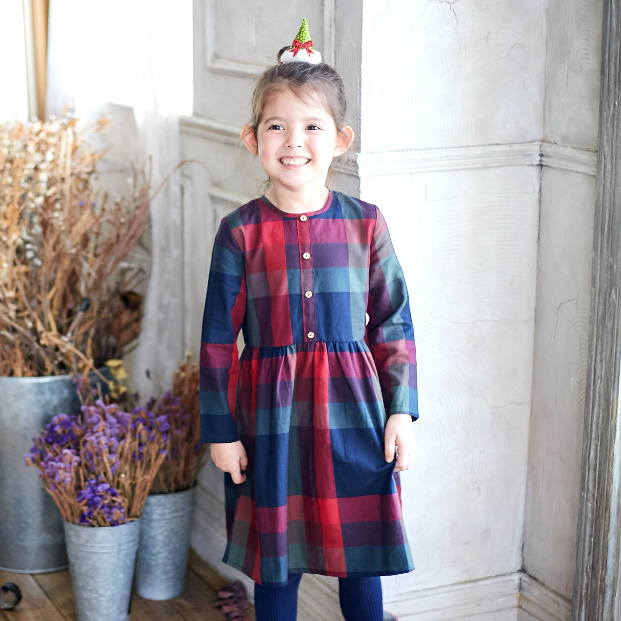 (Girl) Plaid Cotton Fit-n-Flare Dress - Bunny n Bloom Mommy & Me Dress