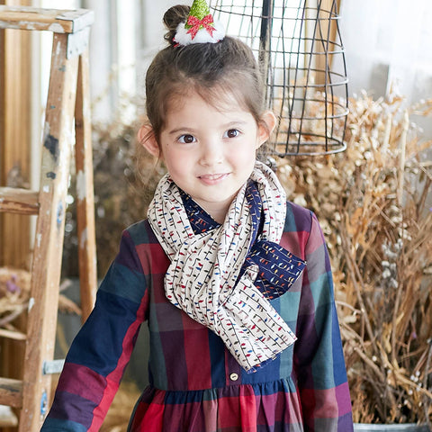 (Girl Scarf) Two Sides Cotton Colorful Scarf - Bunny n Bloom Mommy & Me Dress