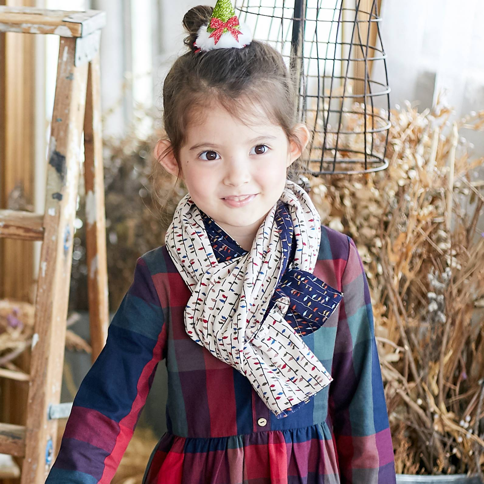 (Mommy & Me) Two Sides Cotton Colorful Scarf - Bunny n Bloom Mommy & Me Dress