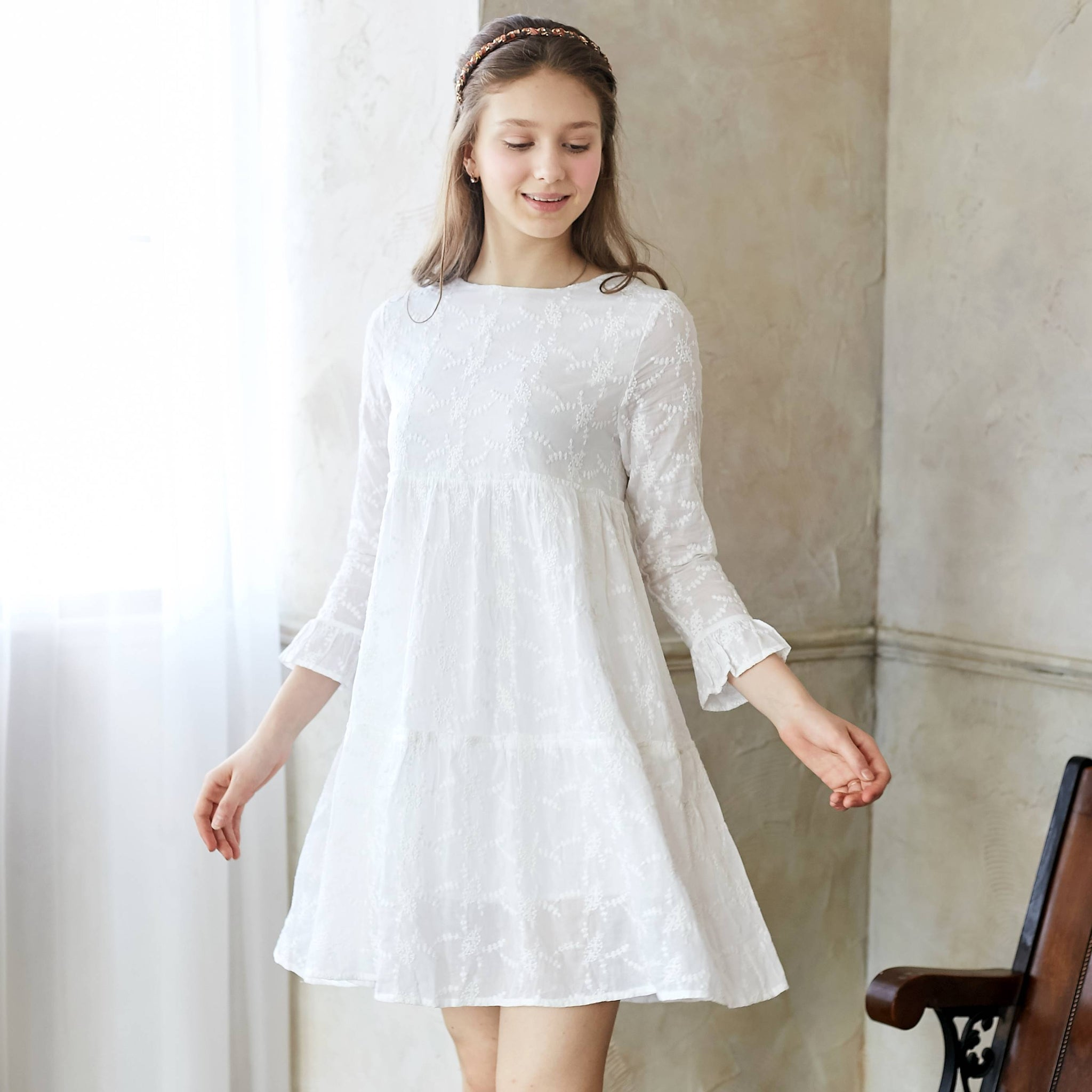 Snow embroidered dress - Bunny n Bloom Mommy & Me Dress