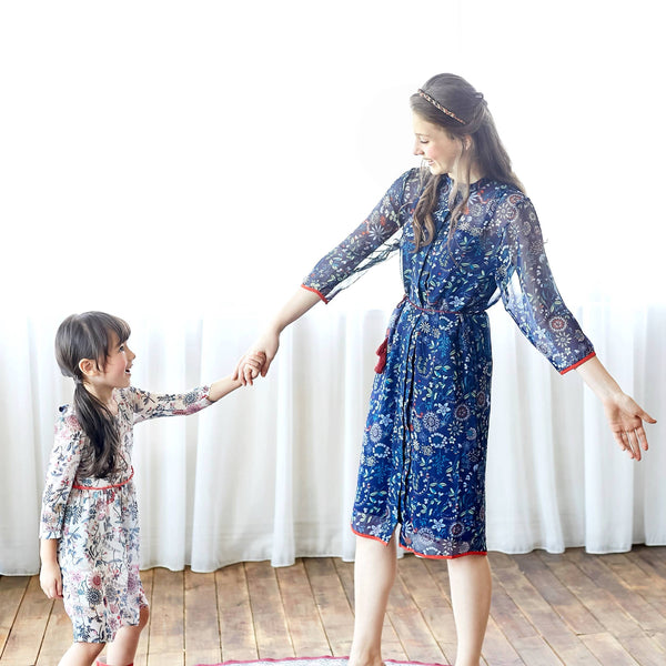(Mommy & Me) Floral Tunic Dress (set of 2)
