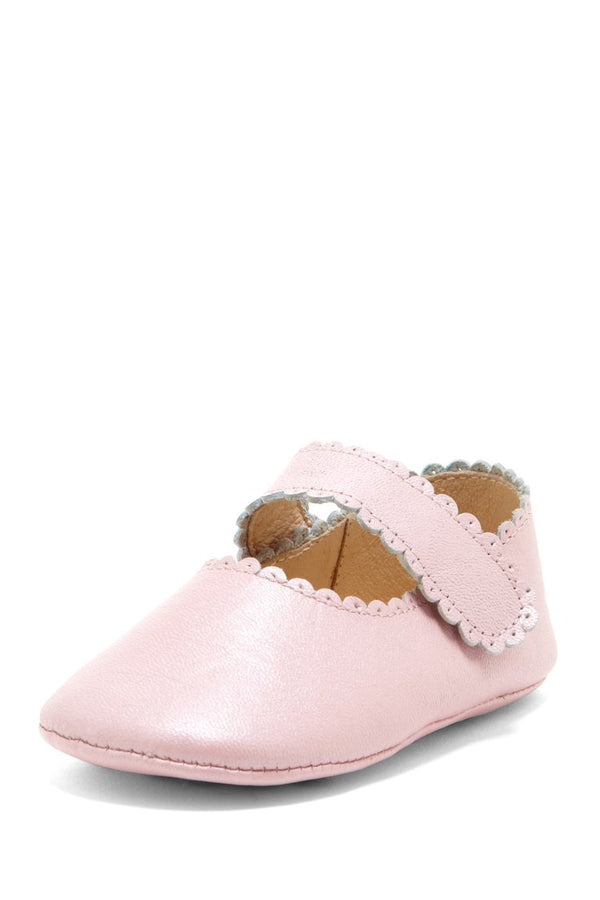 Blush Scallop Trim Mary Janes - Petit Confection