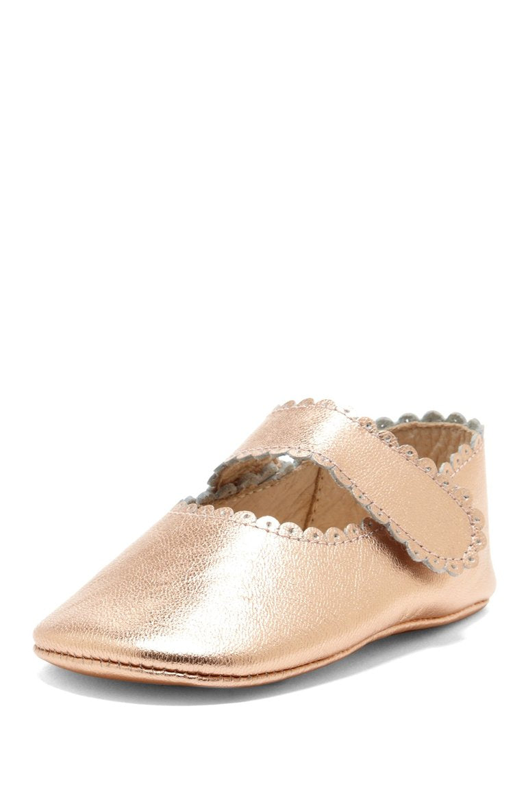 Copper Scallop Trim Mary Janes - Petit Confection