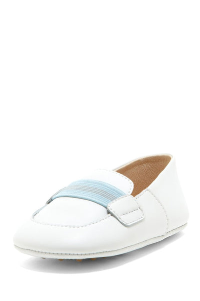 Blue Stripe Banded Loafers - Petit Confection