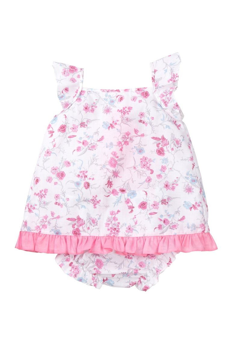 Rose Floral Ruffle Dress Set - Petit Confection