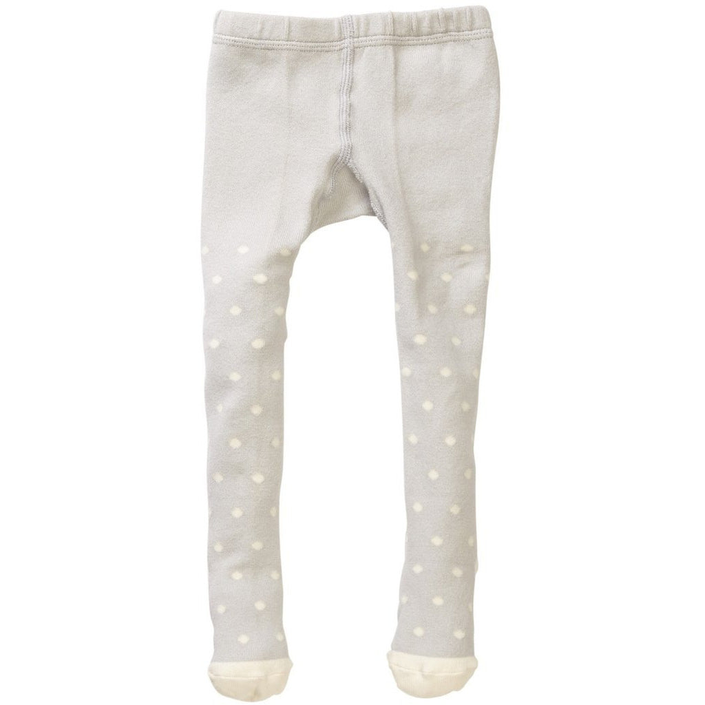 Gray/Ivory Polka Dot Tights - Petit Confection