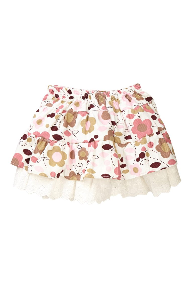 Daisy Corduroy Tiered Skirt - Petit Confection